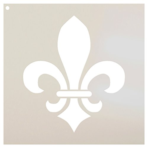 Fleur De Lis Stencil by StudioR12 | Versailles French Art - Reusable Mylar Template | Painting, Chalk, Mixed Media | Use for Journaling, DIY Home Decor - STCL923 SELECT SIZE (9