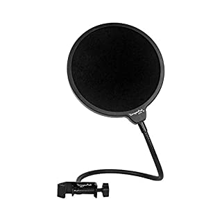 DragonPad USA Microphone Pop Filter for Blue Yeti, Blue Snowball - Has Flexible Gooseneck Microphone Mount And Double Layer Sound Shield Guard Windscreen - Black (B008AOH1O6) | Amazon price tracker / tracking, Amazon price history charts, Amazon price watches, Amazon price drop alerts