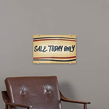 16x16 Classic Gold Premium Acrylic Sign Sale Today Only CGSignLab