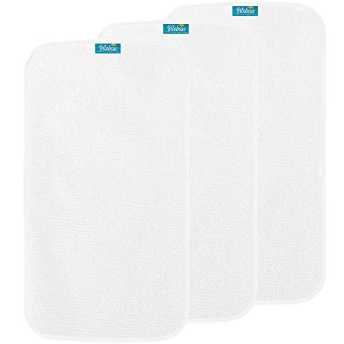 Changing Pad Liner Waterproof (3 Pack Large) - Cotton Terry Surface Washable Changing Pad Cover (Terry Baby Changing Pad)