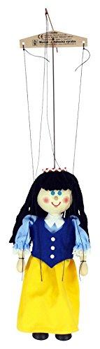 White Snow Marionette - ABA Wooden Snow Marionette, White, 20 cm