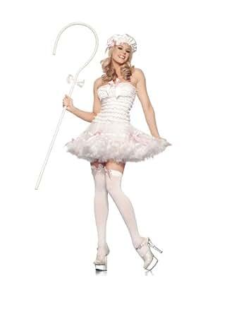 Be instrucciones para hacer disfraces de Wicked BW868-SM Sexy disfraz para adulto Little Bo Peep - pequeño-tamaño mediano