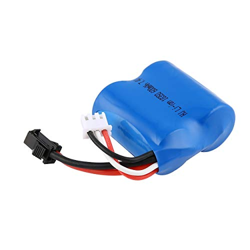 KMtar 7.4V 600mAh SM Balance Plugs Rechargeable Li-ion Battery for RC Skytech H100 H102 H106 Boat Syma Q2 Q3 Spare - Boats Syma Rc