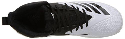 adidas Unisex Freak Mid MD Wide J Football Shoe, FTWR White, core Black, 4 M US Big Kid by adidas (Image #8)