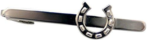Zennor Mens Horse Shoe Tie Slide - Silver by Zennor (Image #1)