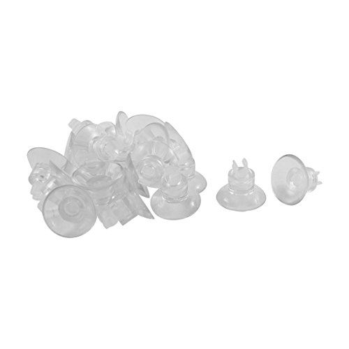 uxcell Plastic Aquarium Airline Tube Holders Clips Clamps Suction Cup 20 Pcs Clear