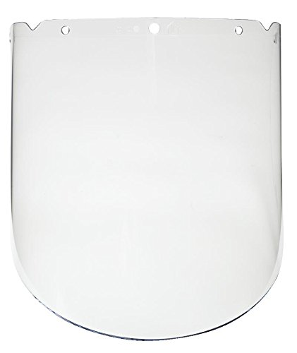 MSA 10115851 V-Gard Propionate Visor, Molded, 9.25'' x 18'' x 0.098'', Clear