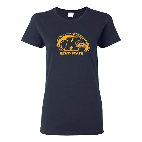 LS02 - Kent State Golden Flashes Primary Logo Womens T-Shirt - Medium - Navy