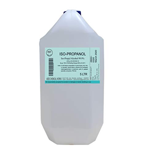 Ases IPA Iso-Propyl Alcohol 99.9% Pure for Home, Medical, Surgical and Hospital Use Disinfectant [(CH3)2-CH-OH] CAS: 67-63-0 (5 Ltr or 5 Litres) Price & Reviews