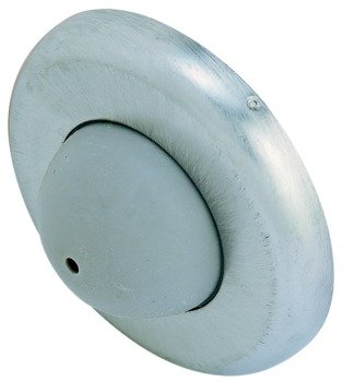 Wall Mounted Door Stop, SW111, Round Convex, ANSI/BHMA A156.16, L02101 629 Stainless Steel, Polished (US32)