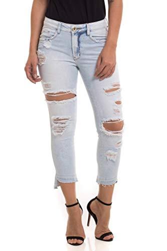 Calça Jeans Denuncia New Skinny Cropped Azul 38