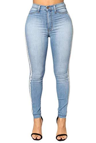 a Azzurro Pantaloni Herzen strappati da strappati junior alta Folge donna skinny Jeans vita deinem elasticizzati x1wnqX6Fv
