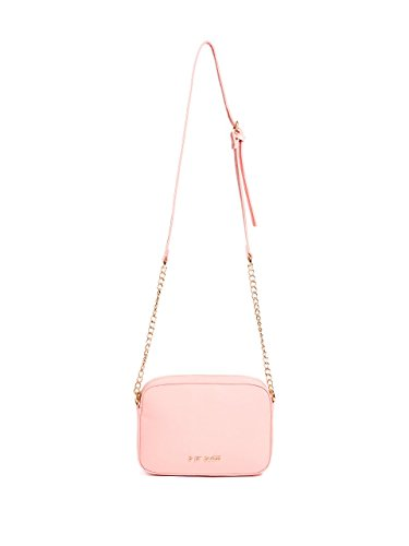 Guess Pink Leather Strap - G by GUESS Women's Logo Saffiano Chain-Strap Crossbody