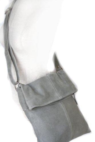 In Pelle Le Donne Incrociate Borsa Fashion Hellgrau formel Grigia 4FOqwB