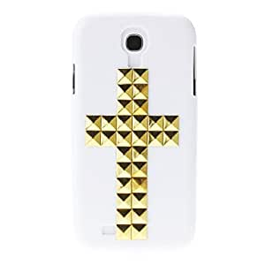 YXF Gold Rivet Crucifix Pattern Hard Back Cover Case for Samsung Galaxy S4 I9500