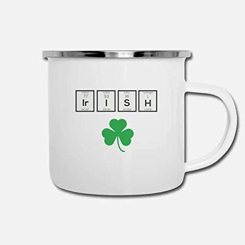 - ILC | Irish Chemical Element | Fun 10oz enamel Camping Coffee Mug