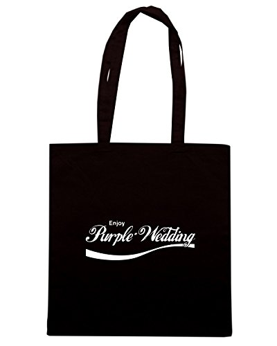 T-Shirtshock - Bolsa para la compra ENJOY0076 Enjoy Purple Wedding Negro