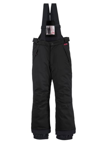 maier sports Kinder Skihose Maxi reg, black, 164, 300002