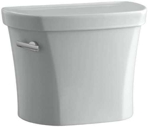 - Kohler K-4841-T-95 Wellworth 1.28 gpf Tank, 14-inch Rough-In with Tank Cover Locks, Ice Grey