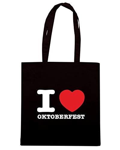 Borsa Shopper Nera BEER0076 I LOVE OKTOBERFEST