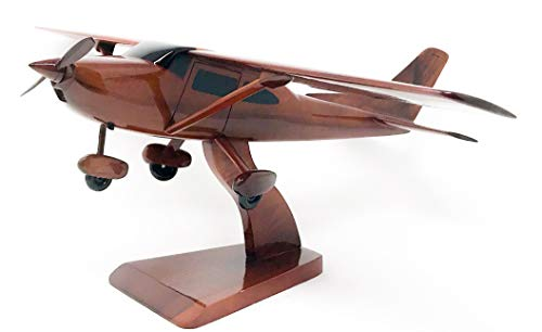 Cessna 172 Replica Airplane Model Hand Crafted with Real Mahogany Wood