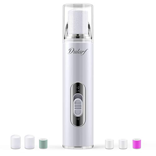 Dularf Electric Nail Drill - Rechargeable Professional Nail Buffer Manicure for Bare and Naked Nails, Buff, Polish, Smooth, Shine Fingers and Toenails (Nail Drill kit Include 6 Rollers, USB Charging)