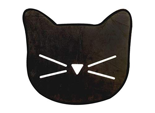 Myxx Black Cat with Whiskers Design Non-Slip Bath Mat, 23 -