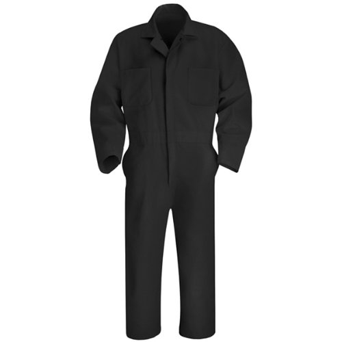 Red Kap Men's Twill Action Back Coverall, Black, 58