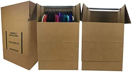 uBoxes Wardrobe Moving Boxes (Bundle of 3) Larger More Cubic Feet 24x24x40