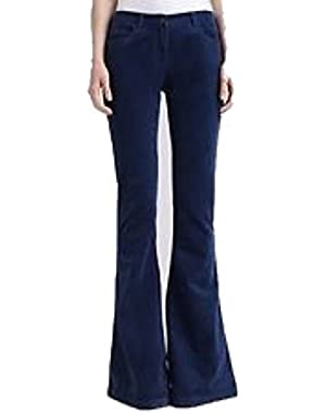 Theory Rezina Like Velvet Flare Jeans for Women in Bright Bue Size 00