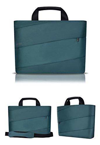 YiJee Tela de Nylon Funda Blanda Bolso Sleeve para Portátil Macbook Pro de 13/14/15 Pulgadas 13 Inch Oscuro Verde