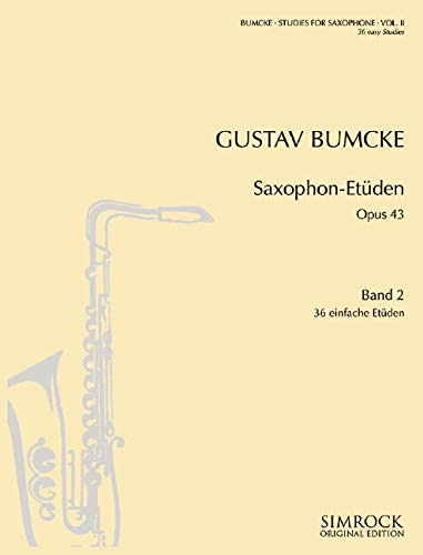 Saxophone Studies Vol 2. 36 Easy Etudes Saxophone Solo ebook