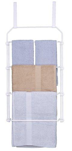 Grayline 41724, Large Back Of Door Towel Rack, White
