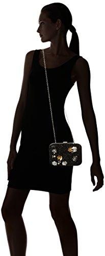 Dorothy Perkins Glitter Flower Sequin, Sacchetto Donna, Black (Black),