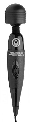 New Ultimate Supercharged Thunderstick Premium Full-Body Massage Wand Massager + Includes a Free Sliquid Organics 4.2 oz Massage Oil by Power-Wand