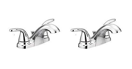 Moen 84603 Adler Chrome Two Handle Bathroom Faucet 4 In Centerset