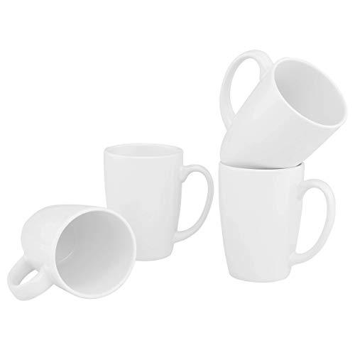 Culver Taza Ceramic Mug 16-Ounce Set of 4 (White)