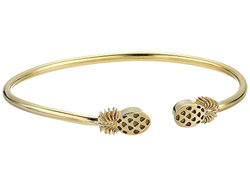 Alex and Ani Women's Pineapple Cuff Bracelet, 14kt Gold Plated ()