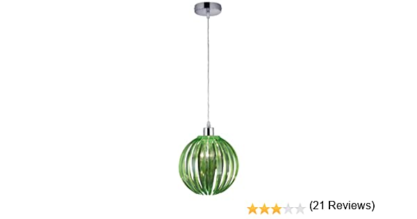 Trio Lighting Lámparas E27, Verde, Colgante de 150 x 29 cm ...