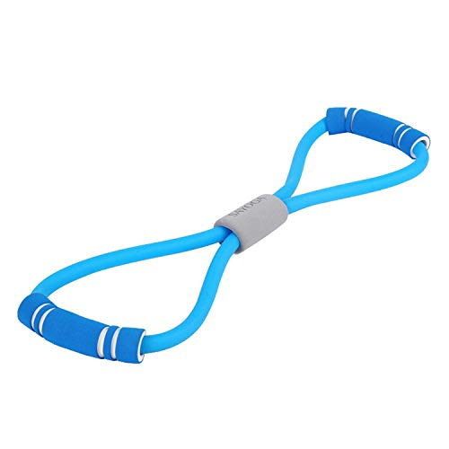 Iusun Arm Resistance Band 8-Word Pull Rope Tension Belt Assist Trainer Straps Loop Exercise Bands for Workout, Gym Fitness, Pilates, Training, Rehab, Yoga, Physical Therapy (Blue)