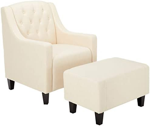 Cheap Christopher Knight Home Elaine Tufted Fabric Club Chair and Ottoman Set living room chair for sale
