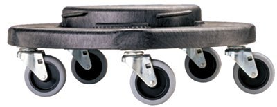 Dolly 300 Lb Max Load - Rubbermaid Commercial - Brute® Dollies Dolly 32/44 Gl Cntnrs 300Lb Load Max Bla 1/Ctn