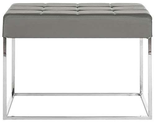 Safavieh Home Collection Roitfeld Modern Glam Grey Ottoman