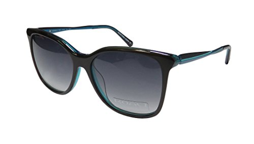 Koali 7851k Womens/Ladies Cat Eye Full-rim Gradient Lenses Flexible Hinges Sunglasses/Shades (54-15-135, Black / - Koali Sunglasses