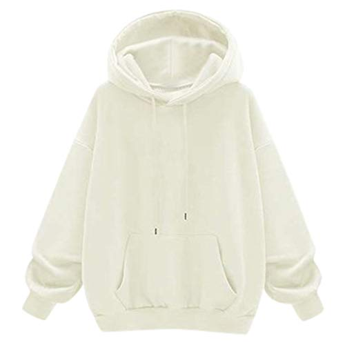 Plus Size Hoodies Pullover for Women Long-Sleeved Solid Color Hoodie Sweatshirt Tops Warm Plush Tracksuit WEI MOLO