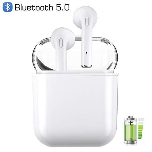 Auriculares inalámbricos Bluetooth Blancos útiles para quienes practican Deportes para Escuchar música y Ver películas Auriculares Bluetooth inalámbricos ...
