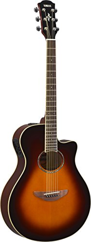 Yamaha APX600 OVS Thin Body Acoustic-Electric Guitar, Old Violin - Violin Sunburst