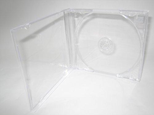 STANDARD CD JEWEL CASE, SINGLE DISC W/ CLEAR TRAY, ASSEMBLED, KC04PK, 100PCS/BOX