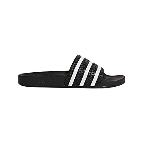 (adidas Men's Adilette Slide Sandal,Black/White/Black,9 M US)