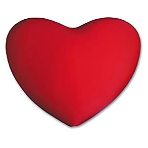 Heart - Shaped Pillow - Red Valentine Pillow - Micro Bead Squishy Pillow